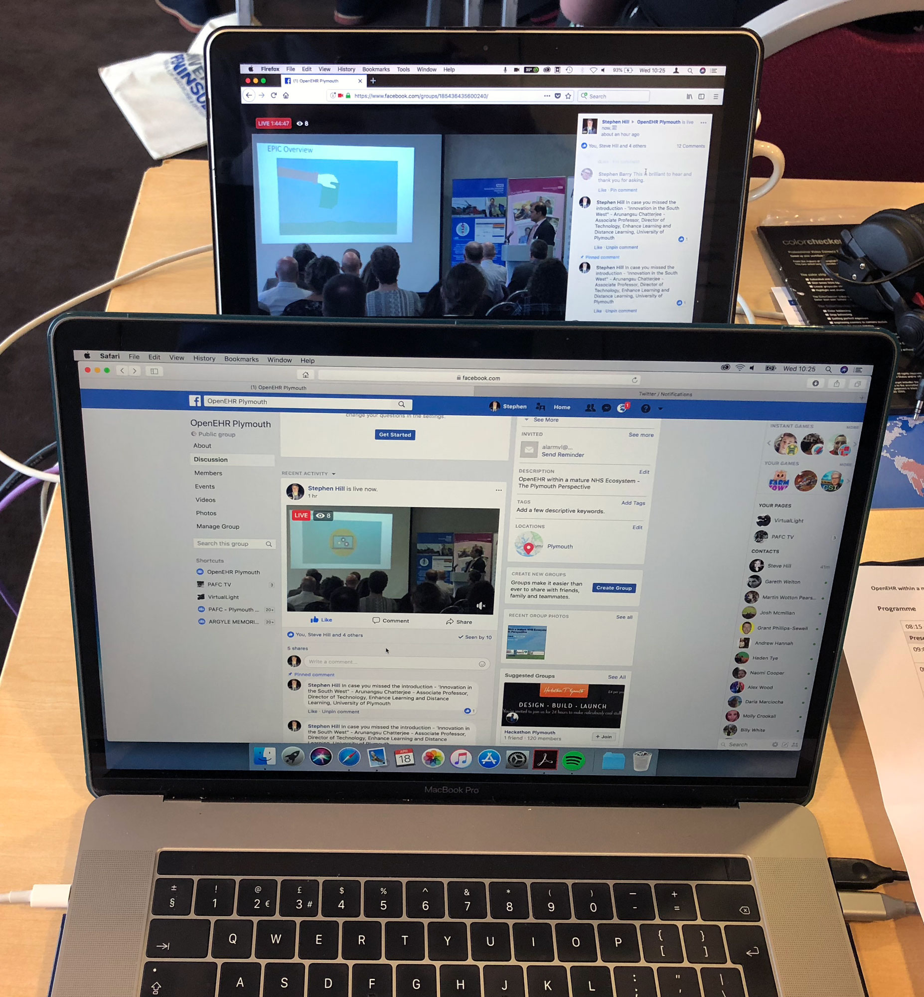 VirtualLIGHT-two-macbooks- live video stream