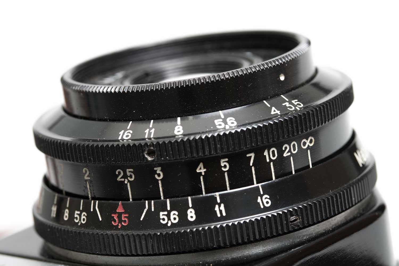 VirtualLIGHT - close up of old film camera lens